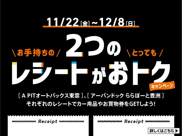 11月22日(金)~12月8日(火)アーバンドック ららぽーと豊洲コラボレーションキャンペーン