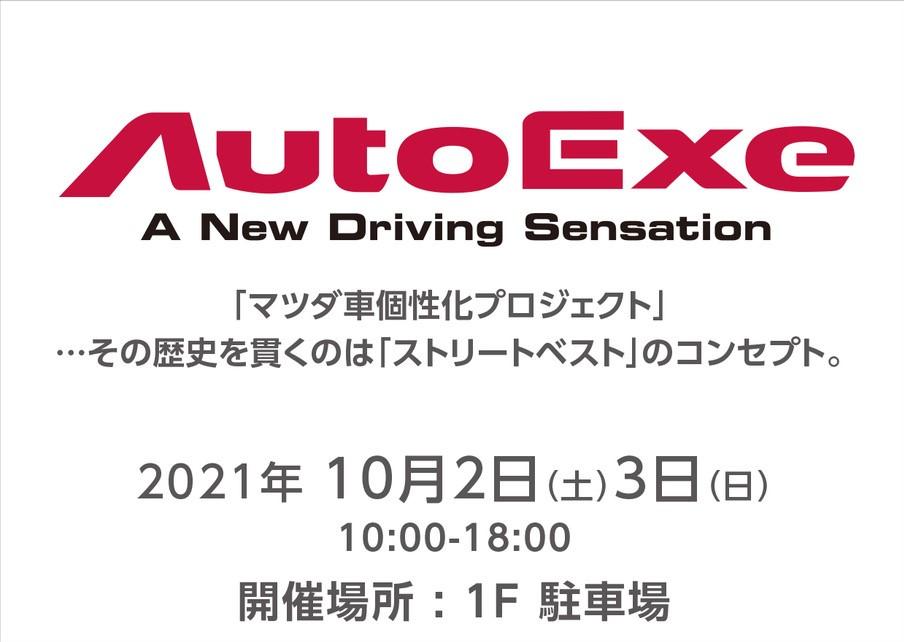 10月2日(土)、3日(日) 10:00~17:00 AUTOEXE フェア